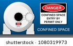 confined space safety | Shutterstock .eps vector #1080319973