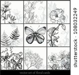 vector collection of hand drawn ... | Shutterstock .eps vector #108032249
