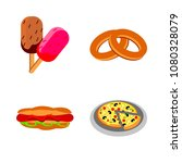 icons about food with pastry ... | Shutterstock .eps vector #1080328079