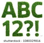 alphabet set of photographed... | Shutterstock . vector #1080329816