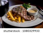 Sirloin Steak And Chips With A...