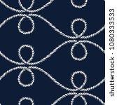 seamless nautical rope pattern. ... | Shutterstock .eps vector #1080333533