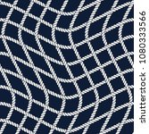 seamless nautical rope pattern. ... | Shutterstock .eps vector #1080333566