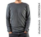 studio shot of man wearing... | Shutterstock . vector #1080343064