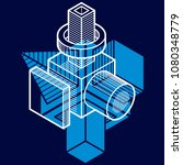 3d engineering vector  abstract ... | Shutterstock .eps vector #1080348779