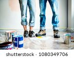 people renovating the house   Shutterstock . vector #1080349706