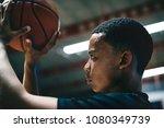 african american teenage boy... | Shutterstock . vector #1080349739