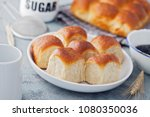 brioche buns with some... | Shutterstock . vector #1080350036