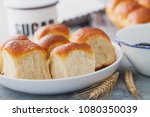 brioche buns with some... | Shutterstock . vector #1080350039
