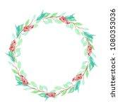 ornament  wreath for postcards... | Shutterstock . vector #1080353036