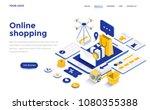 modern flat design isometric... | Shutterstock .eps vector #1080355388