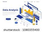 modern flat design isometric... | Shutterstock .eps vector #1080355400
