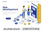 modern flat design isometric... | Shutterstock .eps vector #1080355406