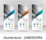 roll up banner stand template... | Shutterstock .eps vector #1080355496