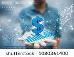 3d rendering dollar symbol  | Shutterstock . vector #1080361400