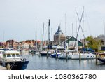 marina in holland town.... | Shutterstock . vector #1080362780