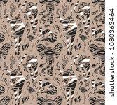 wild animals. stylized wild... | Shutterstock .eps vector #1080363464