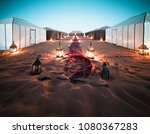 sahara desert luxury camp | Shutterstock . vector #1080367283