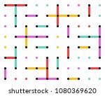 color retro pattern of lines... | Shutterstock .eps vector #1080369620