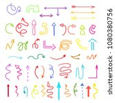 arrows. colored infographic... | Shutterstock .eps vector #1080380756