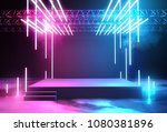 stage with neon lighting... | Shutterstock . vector #1080381896