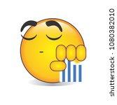 proud uruguayan emoji isolated... | Shutterstock .eps vector #1080382010