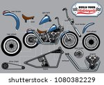Building Motorcycle Parts Set