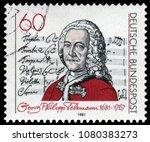 berlin  germany   feb.12  1981  ... | Shutterstock . vector #1080383273