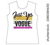 stylish trendy slogan tee t... | Shutterstock .eps vector #1080384650