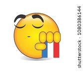 proud dutch emoji isolated... | Shutterstock .eps vector #1080386144