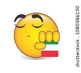 proud italian emoji isolated... | Shutterstock .eps vector #1080386150