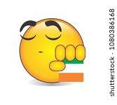 proud irish emoji isolated... | Shutterstock .eps vector #1080386168