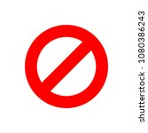 stop sign vector icon in flat... | Shutterstock .eps vector #1080386243