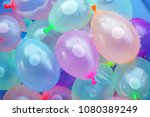 colorful fun water balloon... | Shutterstock . vector #1080389249