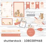 printable label and tag with... | Shutterstock .eps vector #1080389468