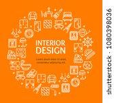 home decor signs round design... | Shutterstock .eps vector #1080398036