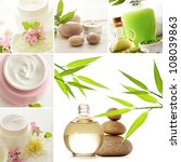 spa still life collage | Shutterstock . vector #108039863