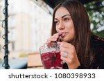closeup of a sexy woman... | Shutterstock . vector #1080398933