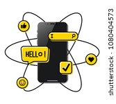 viral content conceptual... | Shutterstock .eps vector #1080404573