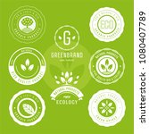 collection of stickers and... | Shutterstock .eps vector #1080407789