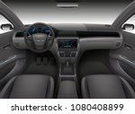 realistic car interior with... | Shutterstock .eps vector #1080408899