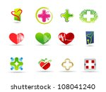medical and health icon set | Shutterstock .eps vector #108041240