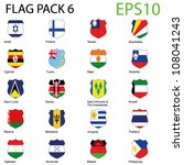 eps10 vector shield flags  ... | Shutterstock .eps vector #108041243