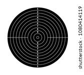 black score target for shooting ... | Shutterstock . vector #1080414119
