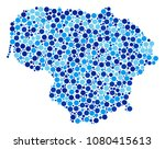 lithuania map mosaic of filled... | Shutterstock . vector #1080415613