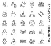 thin line icon set  ...   Shutterstock .eps vector #1080434306