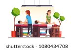 two oriental spa salon massage... | Shutterstock .eps vector #1080434708