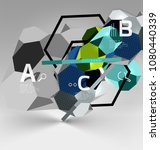3d hexagon geometric... | Shutterstock .eps vector #1080440339