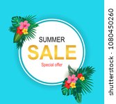 summer sale background layout... | Shutterstock .eps vector #1080450260