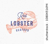 red lobster seafood. retro... | Shutterstock .eps vector #1080451694